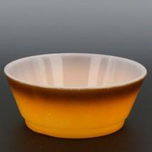 """Fire-King 5"""" Stacking Bowl Orange Brown Fade image 1"""