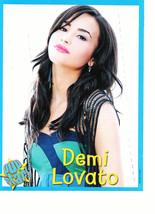 Demi Lovato teen magazine pinup clipping long black hair head up Popstar... - $3.50
