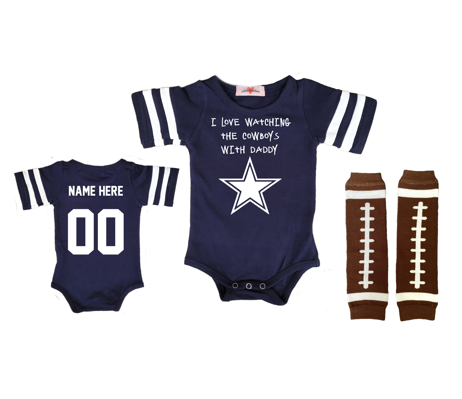 Primary image for Dallas  Cowboys Personalized Football Jersey Custom Watching With Onesie