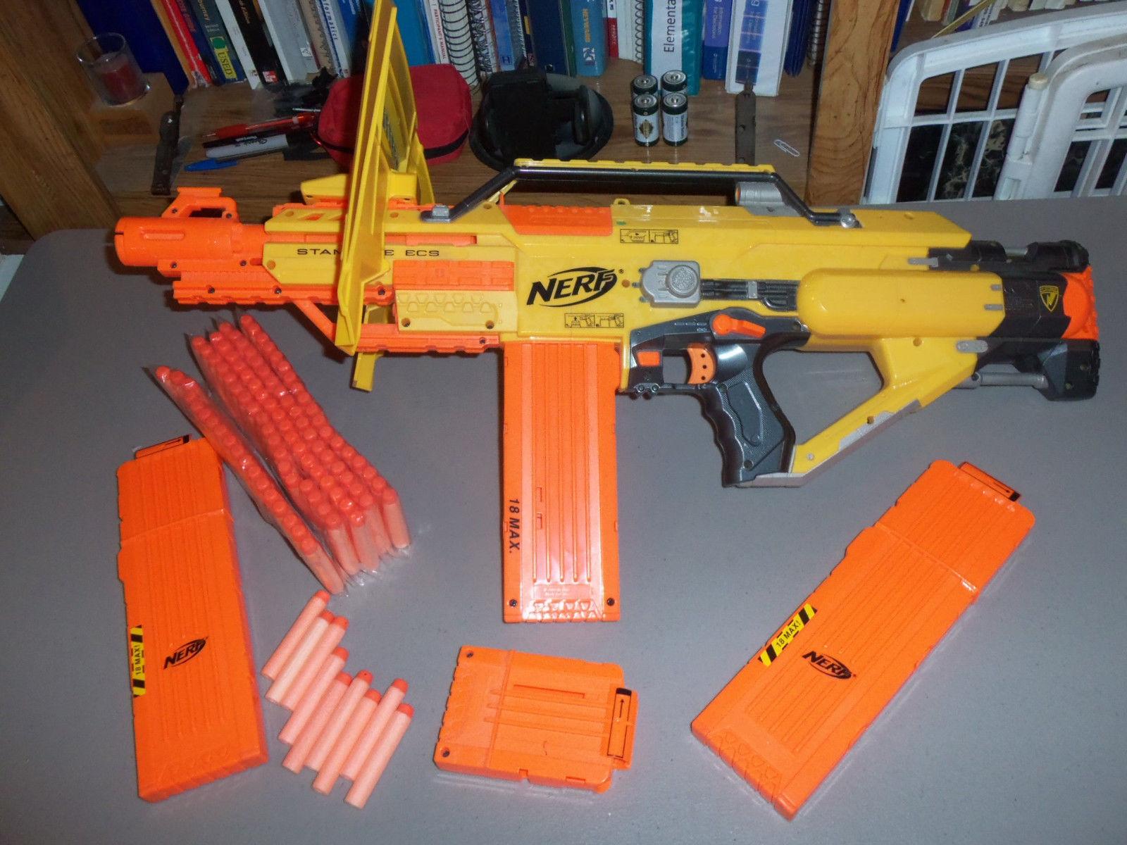Nerf N Strike Stampede Ecs Outdoor Foam Dart Gun W Shield