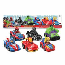 Marvel Super Hero Adventures Racer Vehicles Cars Set 6-Packs - $37.61