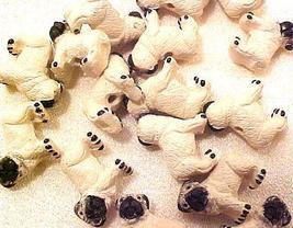 Dog Pug 4 Pottery Beads - $2.95