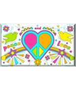 PEACE AND LOVE Hippie Refrigerator Magnet - $1.99+