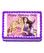 BARBIE Princess and the Popstar edible cake image cake topper frosting s... - $7.80