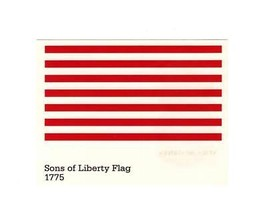 POSTCARD-FIRST Day ISSUE-SONS Of Liberty Flag 1775-STARS & Stripes Series BK5 - $3.40