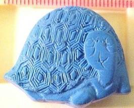 Turtle Cinnabar Blue Style Bead - $2.00