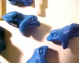Frog 4 Blue Cinnabar Style Bead - $2.95