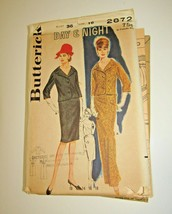 Butterick 2872 Misses' Mad Men Day or Night Wiggle Dress - $28.49