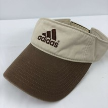 Adidas Brown Beige Visor Hat Adjustable Back Sports Hat Mountains - $24.74