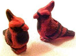 Bird Cardinal 3 Pottery Beads - $2.95