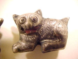 Cat 2 Pewter Colored Metal Beads - $2.95