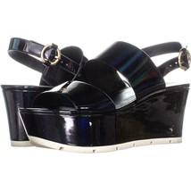 Guess Kaelan Slingback Platform Sandals 762, Black, 8 US - $26.87