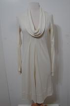 Diane Von Furstenberg Off White Cowl Neck Bilboa Wool Ls Dress 2 - $116.99