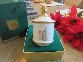 VTG 1986 LENOX CHINA CHRISTMAS ORNAMENT THREE KINGS ORIG. BOX  - $14.80