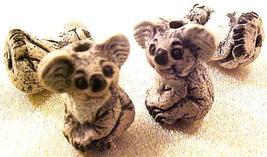 Bear Koala 4 Pottery Beads - $2.95