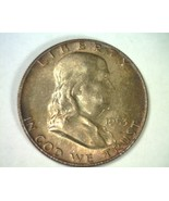 1953-D FRANKLIN HALF DOLLAR GEM+ UNCIRCULATED FULL BELL LINES FBL NICE T... - $115.00