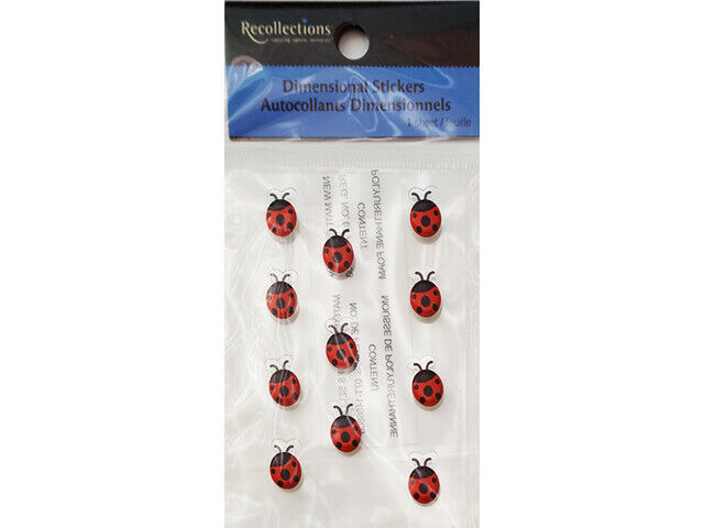 Recollections Dimensional Self-Adhesive Ladybug Stickers #167209