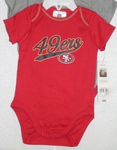 NFL NWT INFANT ONESIE-SET OF 2- SAN FRANCISCO 49ERS 3-6M - €20,30 EUR