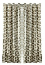 GEOMETRIC 3 PASS BLACKOUT TAUPE BEIGE ANNEAU TOP CURTAINS 9 SIZES - $65.12+