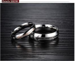USA 2PCS You Are My Love Stainless Steel Couple Ring Promise Engagement ... - $400,60 MXN