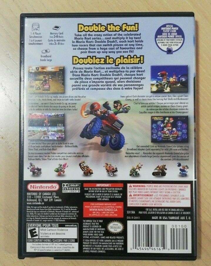 Mario Kart: Double Dash (Special Edition) GameCube, 2003. Excellent Condition