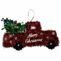Christmas Tinsel Red Truck Wall Decoration, 8.25 in. w - $5.99