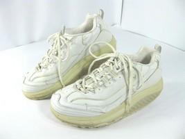 Sketcher Shape Ups Womens Size 8 White 11800 Fitness Sneaker Walking Shoes - £15.31 GBP