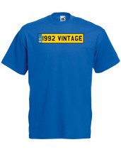 1992 Vintage Number Plate Birthday Graphic Quality t-shirt tee mens unisex - $13.44