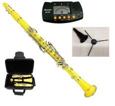 Merano B Flat Yellow Clarinet,Case,11 Reeds+Metro Tuner+Clarinet Stand - $96.99