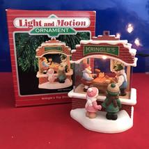 Hallmark  Magic Ornament - Kringle's Toy Shop 1987 QLX7017 Light And Motion - $115.70