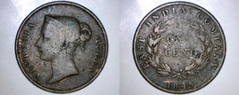 1845 Straits Settlements 1 Cent World Coin - British East India Company - $19.99