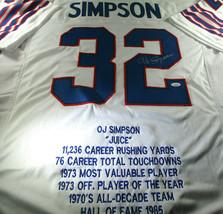 O.J. SIMPSON / HALL OF FAME / AUTOGRAPHED BUFFALO BILLS CUSTOM STAT JERSEY / JSA image 5