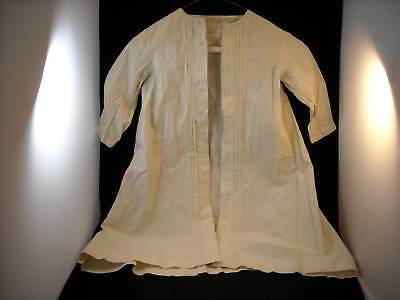 Antique child baby dress white button down long sleeve w flaws needs restoration