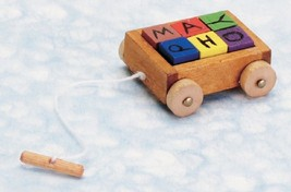 Dollhouse Miniature Child's Wagon with Blocks #T8469 - $4.05