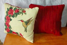Pair of Hummingbird Print Pillows  16 x 16 - $59.95