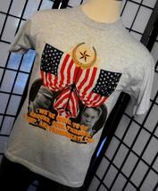 General Norman Schwarzkopf Colin Powell heather gray patriotic tee shirt... - $19.95