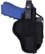 Black Tactical Ambidextrous Law Enforcement Pistol Belt Holster - $18.99