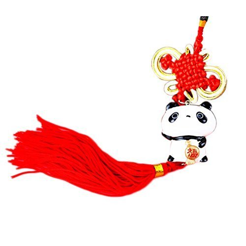 Creative Decoration Chinese Knot Tassel Panda Shaped Hang Decor for Car, A