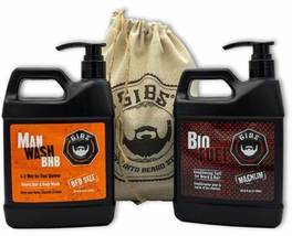 GIBS Grooming Man Wash BHB and Bio Fuel Conditioner Duo