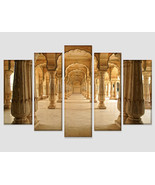 Amber Fort in Jaipur India Canvas Art Ancient Indian Wall Art Indian Arc... - $49.00