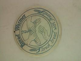 "White Pottery Button Warming Brick 6.25 "" Round Bread Warmer - $9.99"