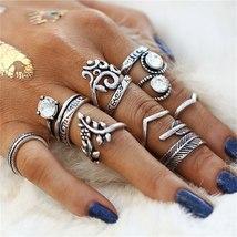 IF ME Vintage Flower Owl Elephant Leaf Ring for Women Bohemian Boho Retr... - $8.15