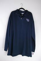 Tennessee Titans NFL Team Apparel 1/4 Zip Jacket Pullover - Size 3XLT - $35.88