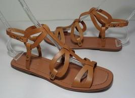 Via Spiga Size 7.5 M DONNIE Tan Leather Sandals New Women's Shoes - $107.91