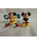 Mickey Minnie Mouse Suction Cup Figures 2 1/2 Inches Tall Walt Disney Pr... - $3.99