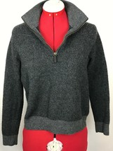 Polo Ralph Lauren Merino Italian Wool 1/4 Zipper Sweater Gray Pullover - $14.80