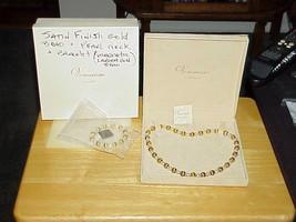 Veronese Sterling 18K Gold Vermeil Pearl & Bead Necklace Bracelet Set Ne... - $133.64