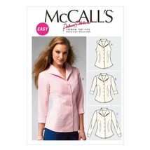 McCall Pattern Company M6750 Misses' Shirts Sewing Template, Size B5 (8-10-12-14 - $14.21