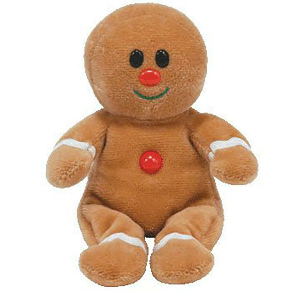 Sweetsy Gingerbread Man 2007 Jingle Beanies Ty Beanie Baby MWMT Retired