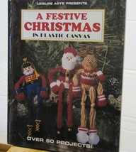 Christmas Plastic Canvas Patterns Book Ornaments Stockings Gifts Decorat... - $12.38